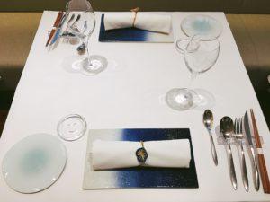 福岡 レストランウェディング テーブルセッティング